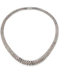John Hardy - Classic Chain Sterling Silver Bib Necklace - Lyst