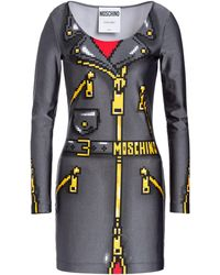 ae225ce5814 Moschino - Women's X Sims Pixel Capsule Lycra Dress - Black Multi - Lyst