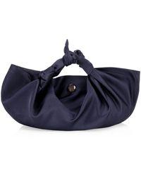 The Row The Ascot Small Satin Hobo Bag - Blue