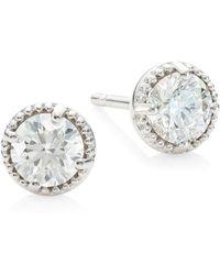 Hearts On Fire - Diamond & 18k White Gold Earrings - Lyst