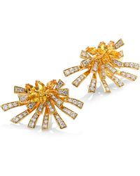 Hueb - Mirage Diamond & Yellow Sapphire Stud & Ear Jacket Set - Lyst