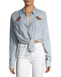 Mcguire - Hideaway Chambray Embroidered Shirt - Lyst