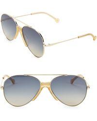 Colors In Optics Brasco 61mm Aviator Sunglasses - Blue
