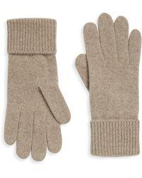 Portolano - Folded Cuffs Cashmere Gloves - Lyst