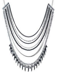 ABS By Allen Schwartz - Black Magic Multi-row Necklace - Lyst