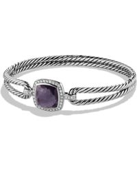David Yurman - Albion Bracelet With Amethyst And Diamonds - Lyst