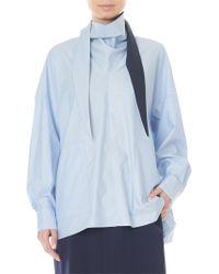 898b41556649 Tibi - Women s Cotton Poplin Bandana Tunic - Morning Blue - Size Large -  Lyst