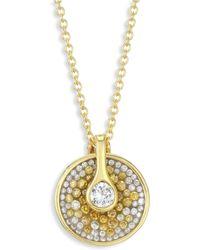 Plevé - Opus Two-tone Diamond Pendant Necklace - Lyst