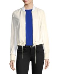 Ramy Brook - Dionne Textured Leather Bomber Jacket - Lyst