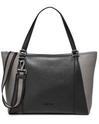 Cole Haan Large 24/7 Soft Colorblock Leather Tote - Black