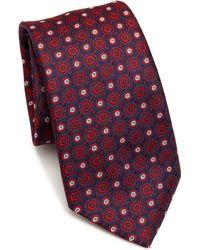 Saks Fifth Avenue - Medallion Pattern Silk Tie - Lyst