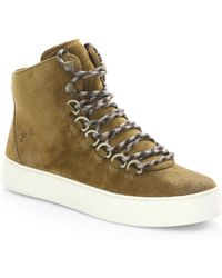 Frye - Suede Round Toe Trainers - Lyst