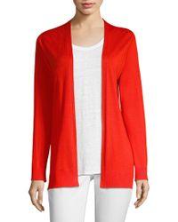 Eileen Fisher - Wool & Silk Cardigan - Lyst