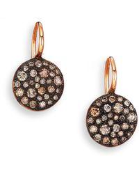 Pomellato - Sabbia Brown Diamond & 18k Rose Gold Drop Earrings - Lyst