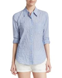 Theory - Striped Button-front Shirt - Lyst