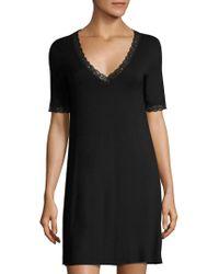 Natori Feathers Essential Sleepshirt - Black