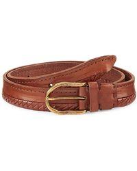 Brunello Cucinelli Half Braided Leather Suede Belt - Brown