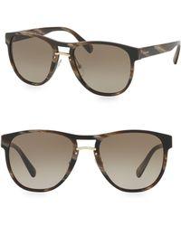Prada - 53mm Horn Sunglasses - Lyst