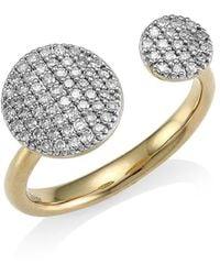 Phillips House 14k Yellow Gold & Diamond Double Open Infinity Ring - Metallic