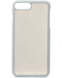 Gigi New York - Grey Pebbled Leather Iphone 7 Plus Case - Lyst