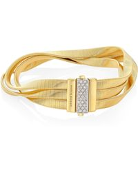 Marco Bicego - Marrakech 18k Yellow Gold Three-strand Bracelet - Lyst