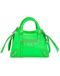 Balenciaga Nano Neo Classic Leather Satchel - Green