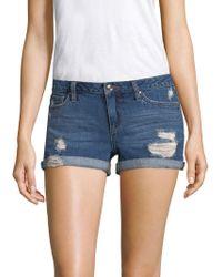 Joe's - Distressed Denim Rolled Shorts - Lyst