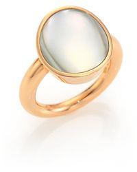 Vhernier - Giotti Piccolo Mother-of-pearl & 18k Rose Gold Ring - Lyst