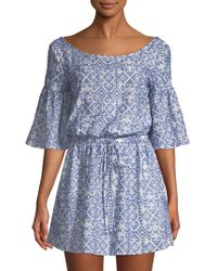 MILLY - Linda Embroidered Coverup - Lyst