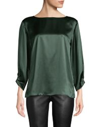 Lafayette 148 New York - Wynona Cinched Sleeve Top - Lyst