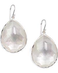 Ippolita - Wonderland Mother-of-pearl, Clear Quartz & Sterling Silver Large Doublet Teardrop Earrings - Lyst