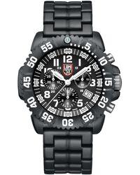 Luminox Navy Seal Colormark Chronograph Watch - Black