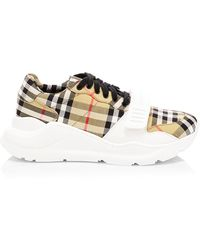 Burberry Regis Vintage Check Runway Sneakers - Multicolor