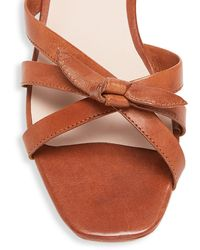 Loeffler Randall Eveline Knotted Leather Flat Sandals - Brown