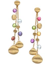 Marco Bicego | Paradise Semi-precious Multi-stone Double-drop Earrings | Lyst