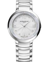Baume & Mercier - Promesse 10178 Stainless Steel Bracelet Watch - Lyst