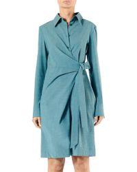 e106a3cd7d4b Tibi - Cross Dye Wool Short Jumpsuit - Lyst