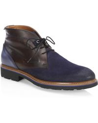 Saks Fifth Avenue - Collection Mixed Media Leather Chukka Boots - Lyst