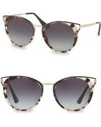 Prada - Mirrored Round Sunglasses - Lyst
