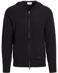 7 For All Mankind Merino Wool Zip Front Hoodie - Multicolor