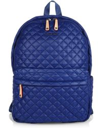 MZ Wallace | Metro Medium Quilted Oxford Nylon Backpack | Lyst