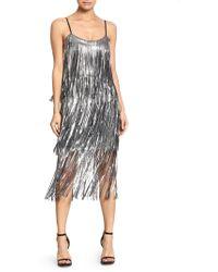 Dress the Population - Roxy Sequin Fringe Dress - Lyst