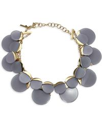 Lele Sadoughi - Concrete Jungle Disc Necklace - Lyst