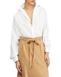 Polo Ralph Lauren - Long Sleeve Oversized Shirt - Lyst