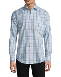 Peter Millar - Crown Ease Palazzo Plaid Cotton Shirt - Lyst