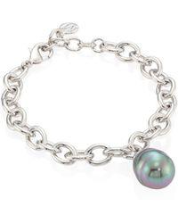 Majorica - 14mm Grey Baroque Pearl Bracelet - Lyst