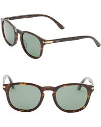 Cartier - Women's 51mm Round Sunglasses - Dark Havana - Lyst