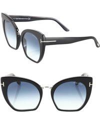 Tom Ford - Samantha 55mm Cropped Cat Eye Sunglasses - Lyst