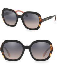 Prada - 54mm Two Tone Tortoise Sunglasses - Lyst