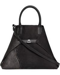 Akris - Medium Leather Foldable Tote - Lyst